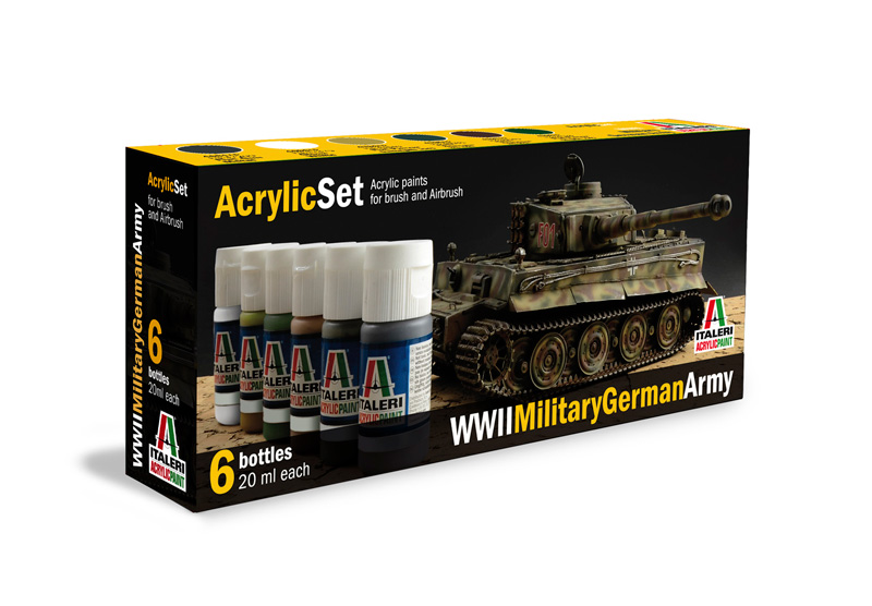 Italeri-433 AP  acryl set - WWII MILITARY GERMAN ARMY