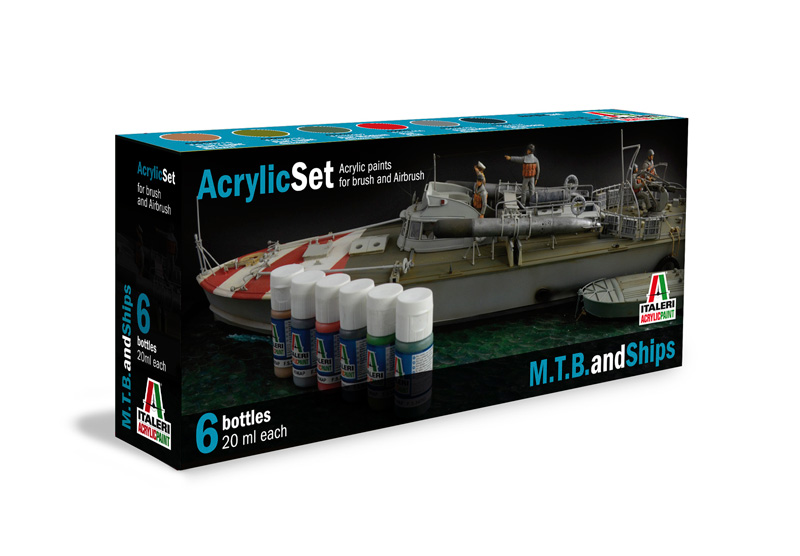Italeri-434 AP  acryl set - M.T.B. AND SHIPS