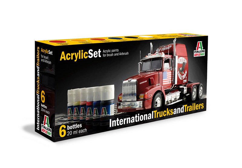 Italeri-435 AP  acryl set - INTERNATIONAL TRUCK AND TRAILER