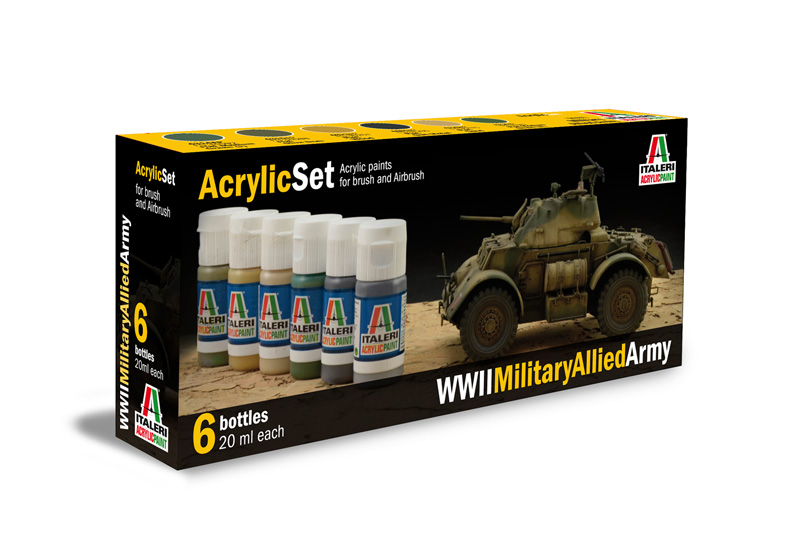 Italeri-440 AP  acryl set - WWII MILITARY ALLIED ARMY
