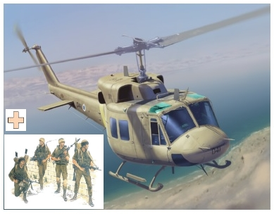 Dragon-3543 1:35  IAF UH-1N w/Paratroopers