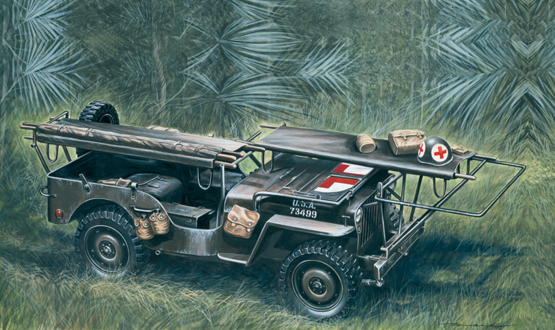 Italeri-0326  1/4 ton. 4x4 AMBULANCE JEEP