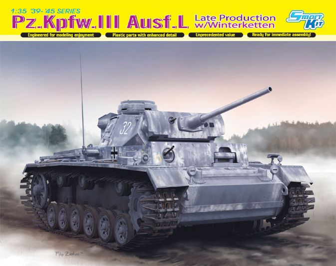 Dragon-6387  Pz.Kpfw.III Ausf.L Late Production w/Winterketten