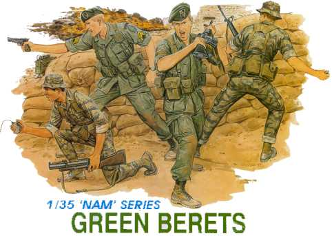 Dragon-3309  1:35  GREEN BERETS