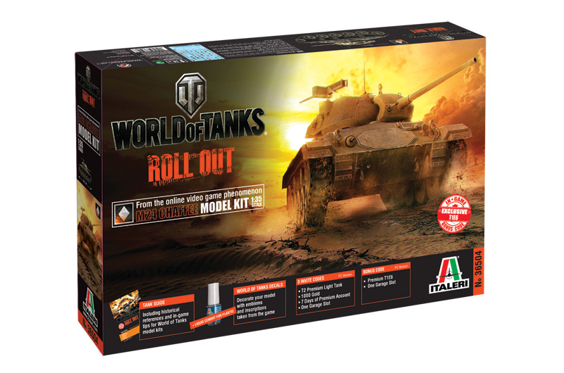 Italeri-36504 WORLD OF TANKS:  M24 CHAFFEE