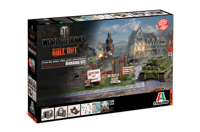 Italeri-36505 WORLD OF TANKS:  HIMMELSDORF DIORAMA SET