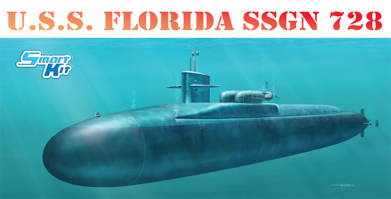Dragon-1056 1:350 USS FLORIDA SSGN 728