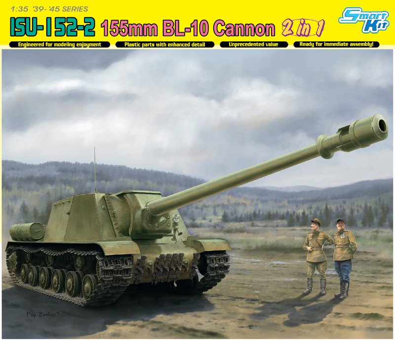 Dragon-6796 1:35  ISU-152-2 155mm BL-10 Cannon 2in1