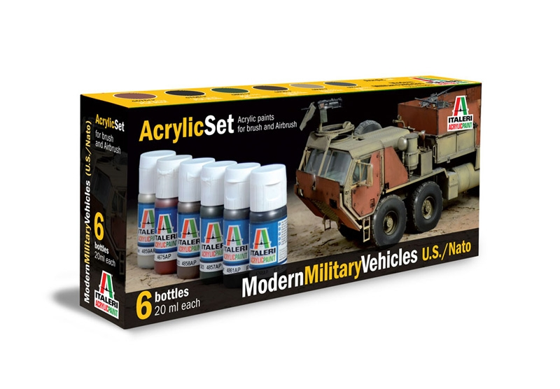 Italeri-442 AP  acryl set - MODERN:  MILITARY VEHICLES  (U.S./ NATO)