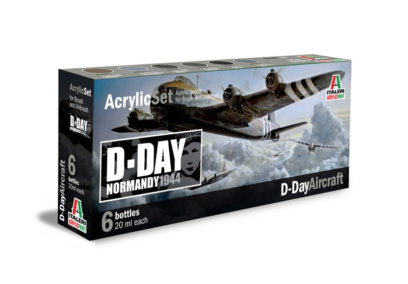Italeri-445 AP  acryl set - WWII:  D-DAY AIRCRAFT