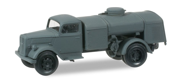 Herpa-745031  Opel Blitz tank truck, armed forces gray