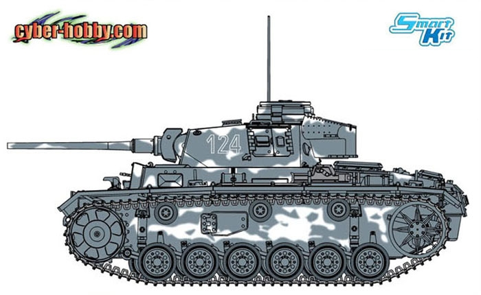 Cyber Hobby-6422  Pz.Kpfw. III Ausf. L Vorpanzer - Smart Kit
