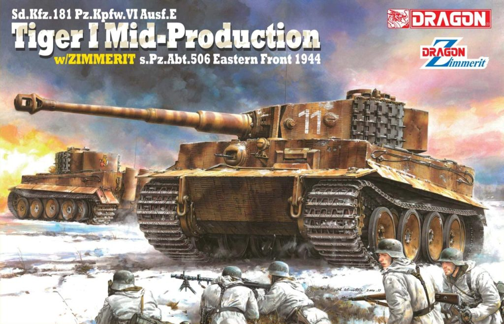 Dragon-6624  Pz.Kpfw.VI Ausf.E Tiger I Mid Production w/Zimmerit