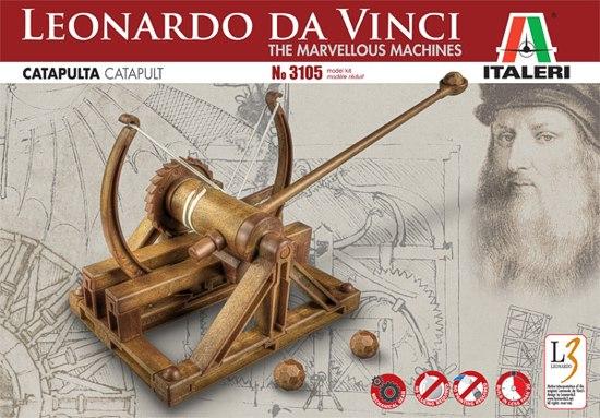 Italeri 3105 leonardo catapult machiny leonarda da for Catapulta di leonardo da vinci