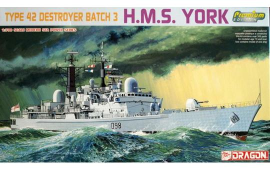 "Dragon- 7055  H.M.S""YORK"", TYPE 42. DESTROYER BATCH 3."