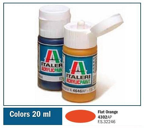 Italeri-4302 AP  acryl - FLAT ORANGE