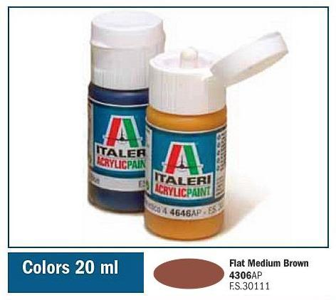 Italeri-4306 AP  acryl - FLAT MEDIUM BROWN