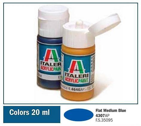 Italeri-4307 AP  acryl - FLAT MEDIUM BLUE