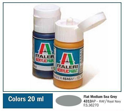 Italeri-4313 AP  acryl - FLAT MEDIUM SEA GREY