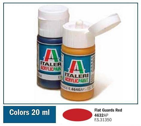 Italeri-4632 AP  acryl - FLAT GUARDS RED