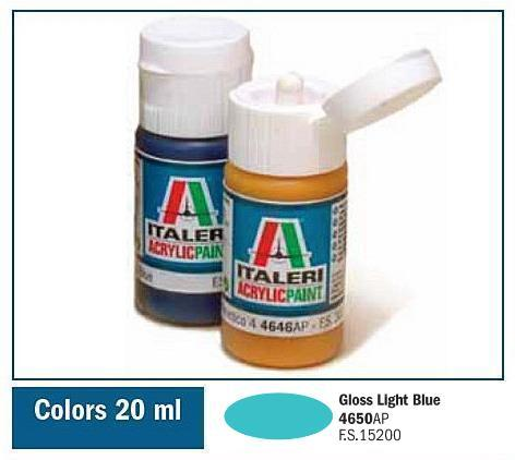 Italeri-4650 AP  acryl - GLOSS LIGHT BLUE