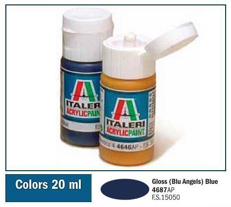 Italeri-4687 AP  acryl - GLOSS ANGEL BLUE