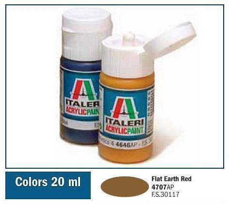 Italeri-4707 AP  acryl - FLAT EARTH RED