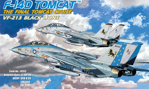 Dragon-4593  F-14D SUPER TOMCAT VF-213