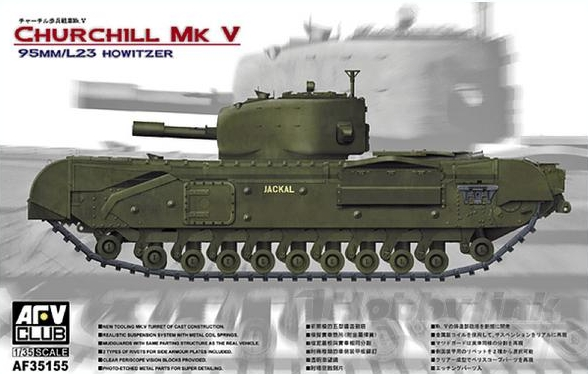AFV CLUB-35155  skala 1:35 Churchill Mk V 95mm Howitzer
