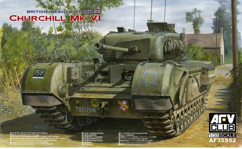 AFV CLUB-35S52  skala 1:35 Churchill Mk.VI