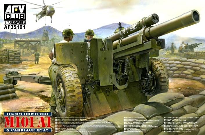 AFV CLUB-35191  skala 1:35 M101 A1 105mm Howitzer & Carriage M2A2