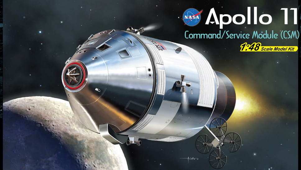 Dragon-11007  1:48 Apollo 11 Command/Service Module (CSM)