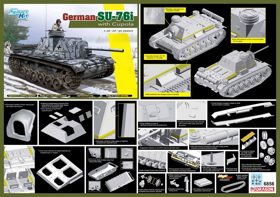 6856.jpg Dragon-6856  German SU-76i with Cupola