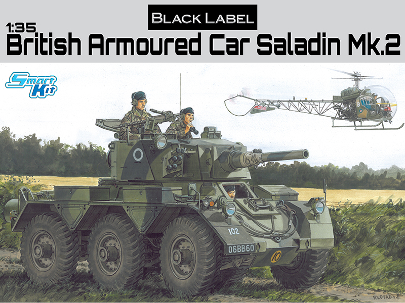 Black Label-3554 1:35  BRITISH ARMORED CAR SALADIN MK.II