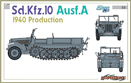 Cyber Hobby-6630  Sd.Kfz.10 Ausf.A, 1940 Production
