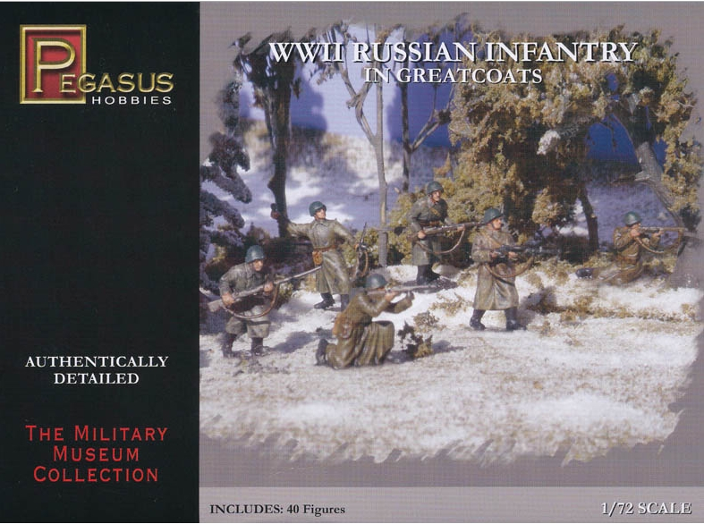 Pegasus-7271  WWII Russian Infantry in Greatcoats