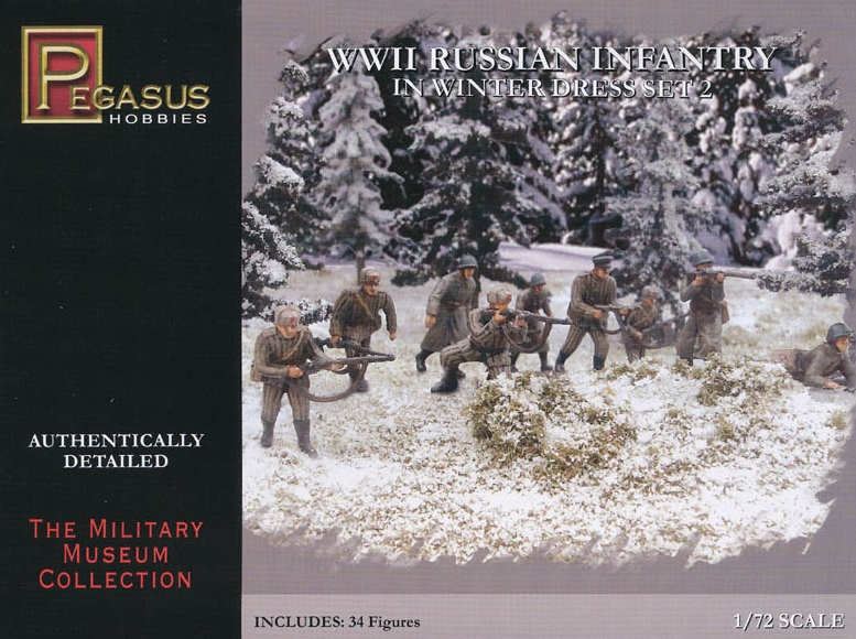 Pegasus-7272  WWII Russian Infantry in Winter Dress