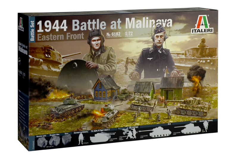 Italeri-6182  1944 BATTLE AT MALINAVA - BATTLE SET