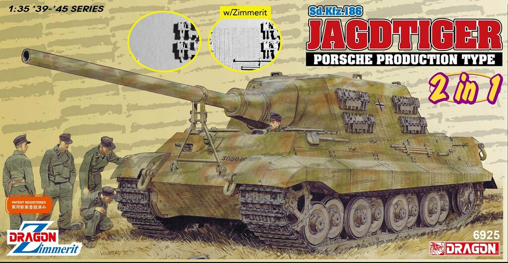 Dragon-6925  Sd.Kfz.186 Jagdtiger Porsche Production Type (2 in 1)