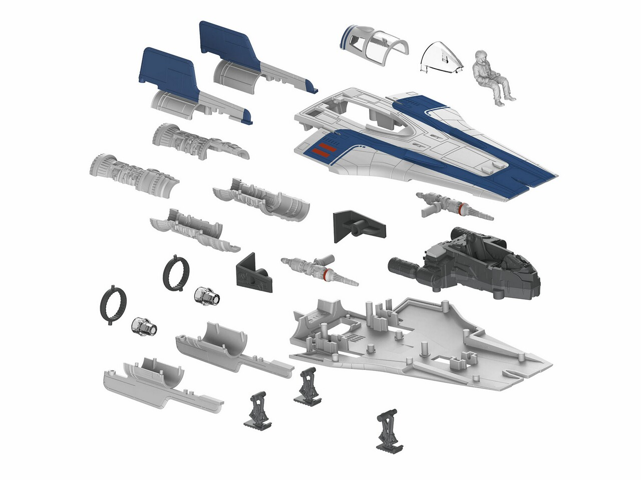 Revell 06762 Star War Resistance A-Wing Fighter, B**