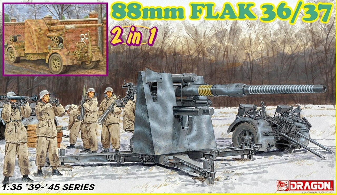 Dragon-6923  88mm FLAK 36/37 (2 in 1)
