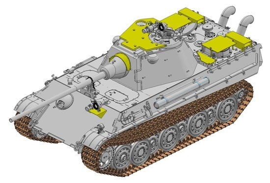 Dragon-6917  Panther Ausf.F w/Night Sight and Air Defense Armor