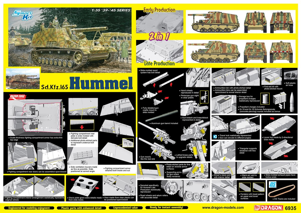 Dragon-6935 HUMMEL EARLY/LATE PRODUCTION (2 in1)
