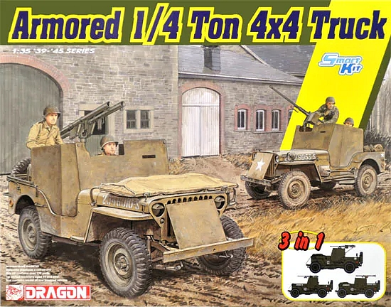 Dragon-6727  Armored 1/4-Ton 4x4 Truck w/.50-cal Machine Gun