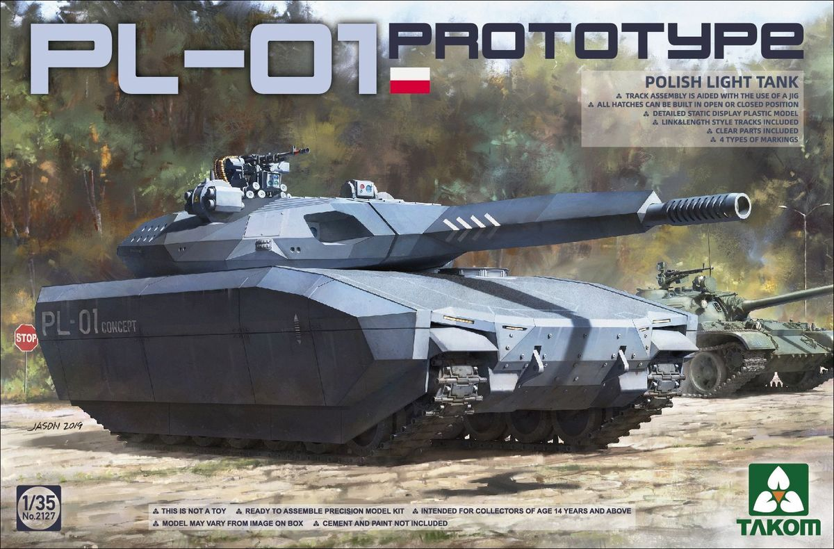 Takom 2127 Polish PL-01 Prototype Light Tank**