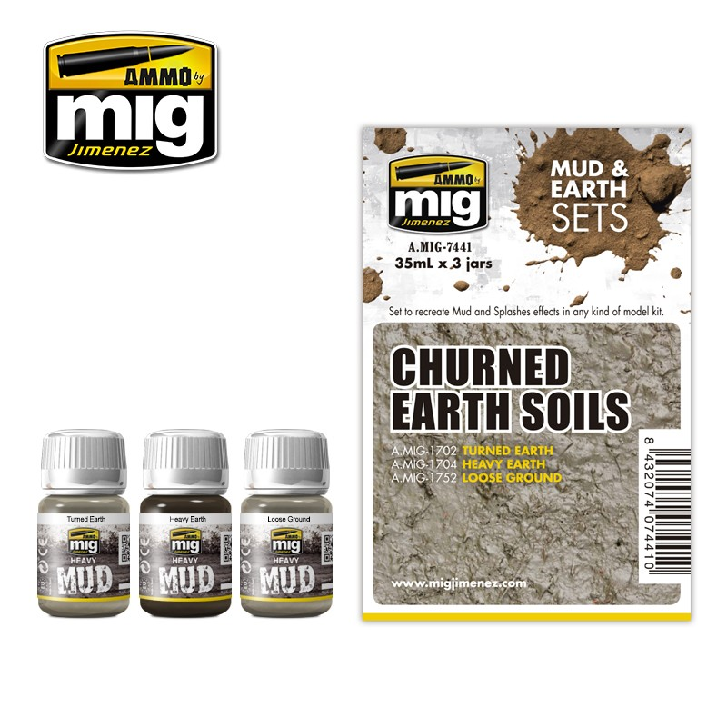 AMIG7441 ZESTAW: CHURNED EARTH SOILS (MUD & EARTH)