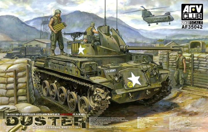 AFV-35042  skala 1:35 M42A1 Self-Propelled AA Gun Duster Late Type **