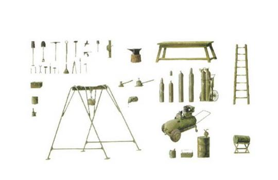 Italeri-0419  FIELD TOOL SHOP